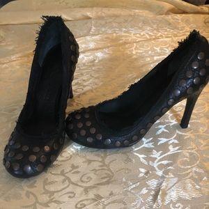 Pedro Garcia re/edition Exclusive black stud heels